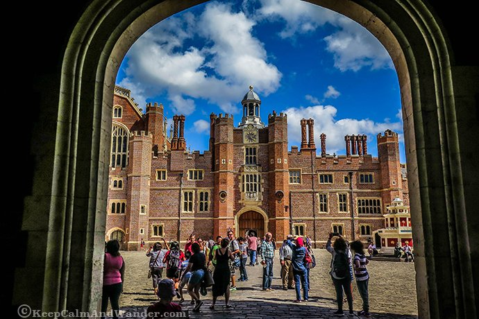 Hampton Court Palace is 17 miles outside central London.