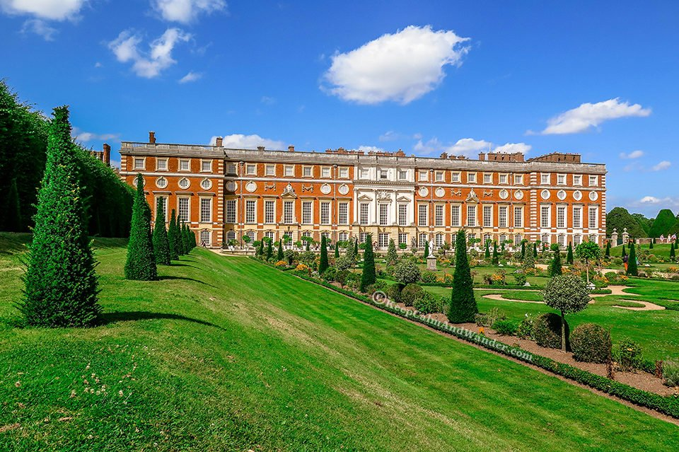 The Delightful Gardens at Hampton Court Palace (London).