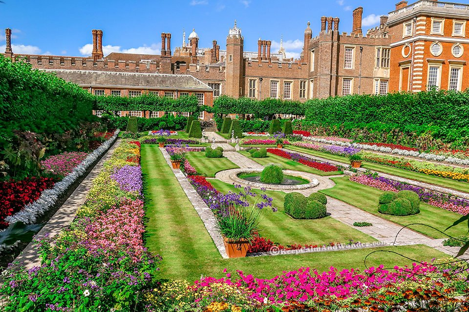 The Delightful Hampton Court Palace Gardens - The Pond Garden (London).