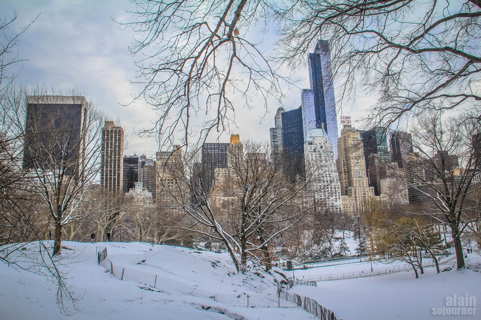New York's Central Park on Snow Day.