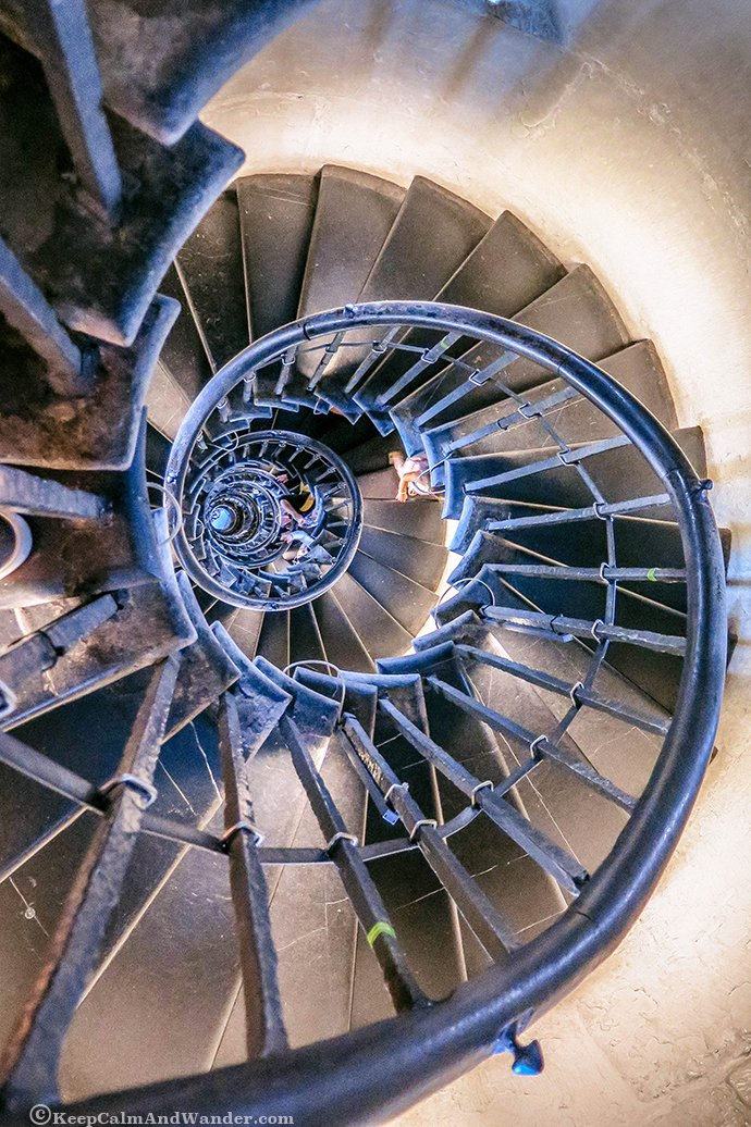 This is the 311 spiral steps that you have to climb to the top of the Monument.