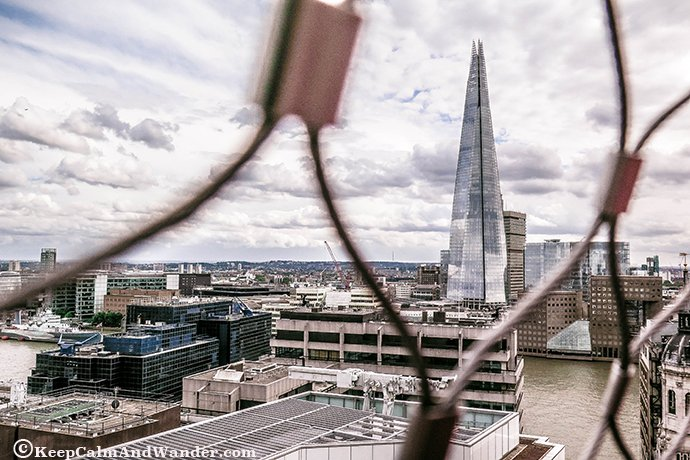 London City Skyline from the Monument to the Great Fire.