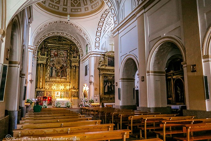Inside the Convent of St. Theresa of Avila (Spain).