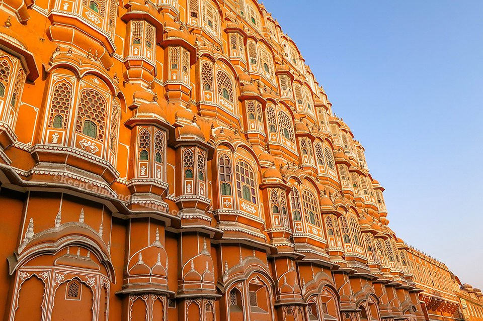 Hawa Mahal - A Pink-Washed Palace of the Wind in Jaipur (Rajasthan, India)