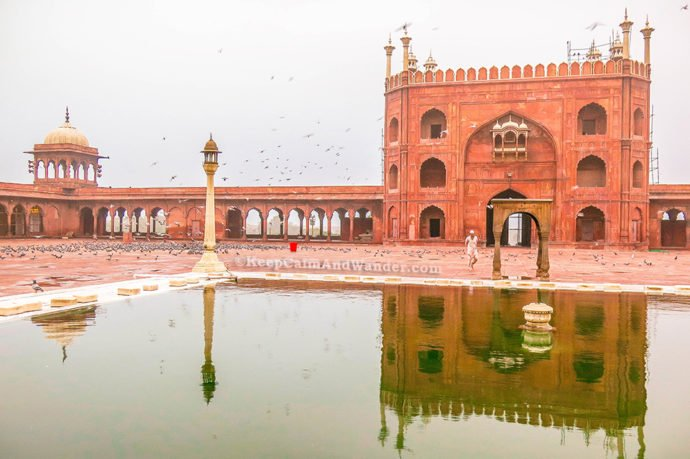 Visiting Jama Masjid in the morning is serenity exemplified.