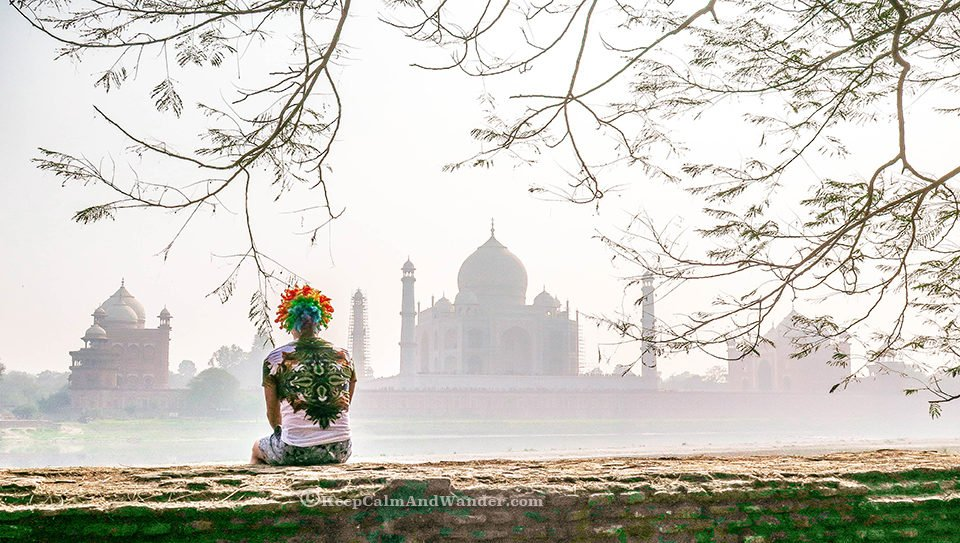 I Wasn't Allowed to Bring my Rainbow Wig Inside the Taj Mahal.