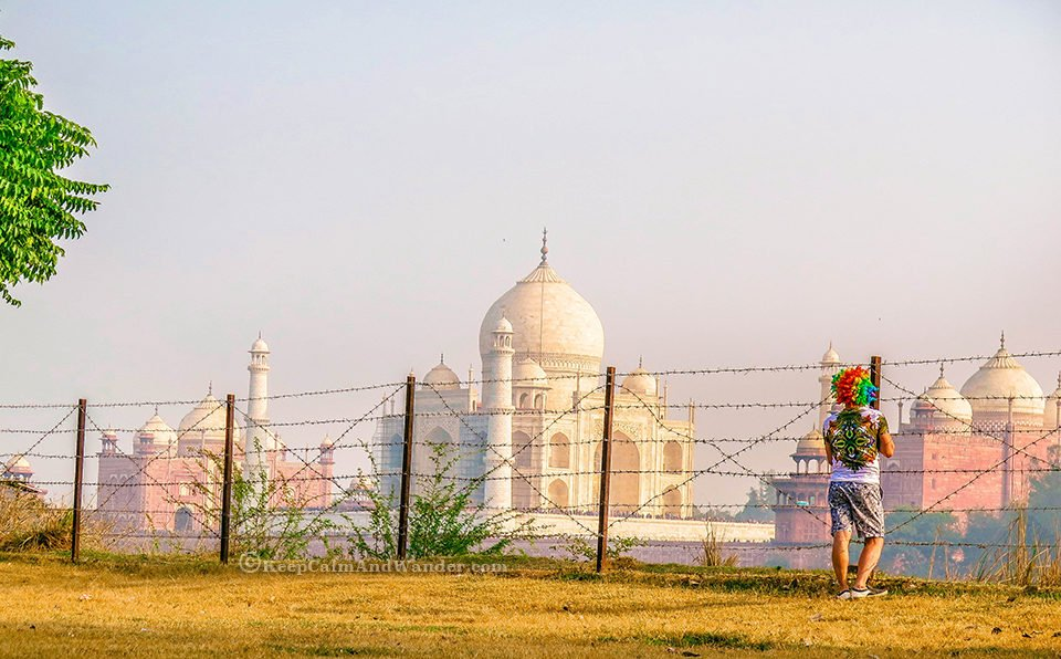 Rainbow Wig at Taj Mahal