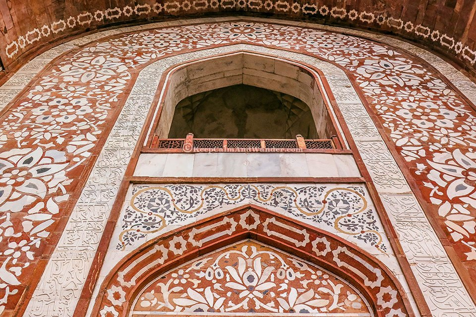 The Magnificent Tomb of Akbar the Great at Sikandra in Agra (India).