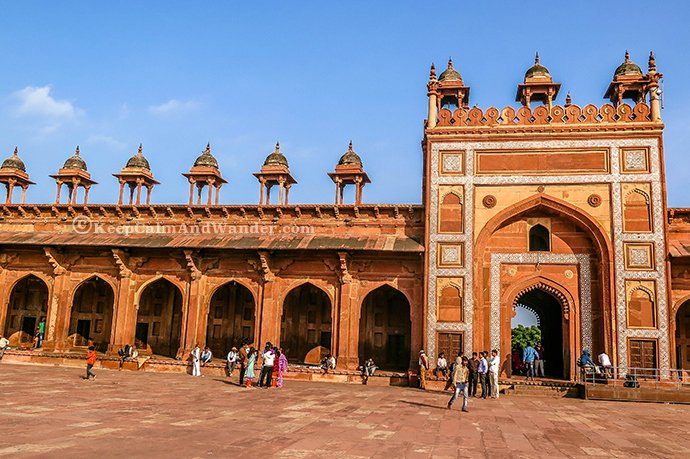 The Beautiful Jama Masjid, Fatehpur Sikri (Agra, India).