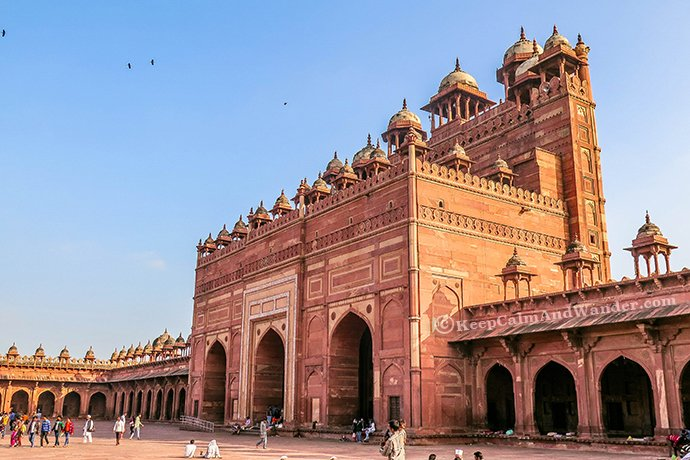 The Beautiful Jama Masjid, Fatehpur Sikri (Agra, India).