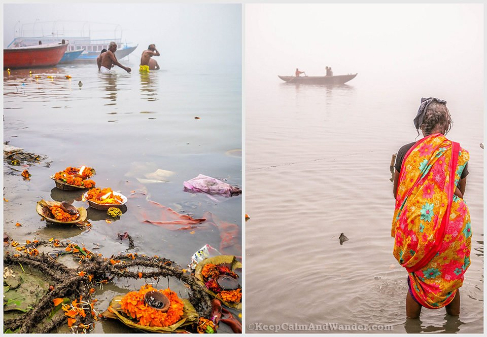 What Morning Looks Like at the Ganges River, the Holiest River in India. (Varanasi)