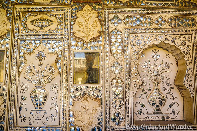 Sheesh Mahal - The Flickering Palace of Mirrors in Jaipur (India).