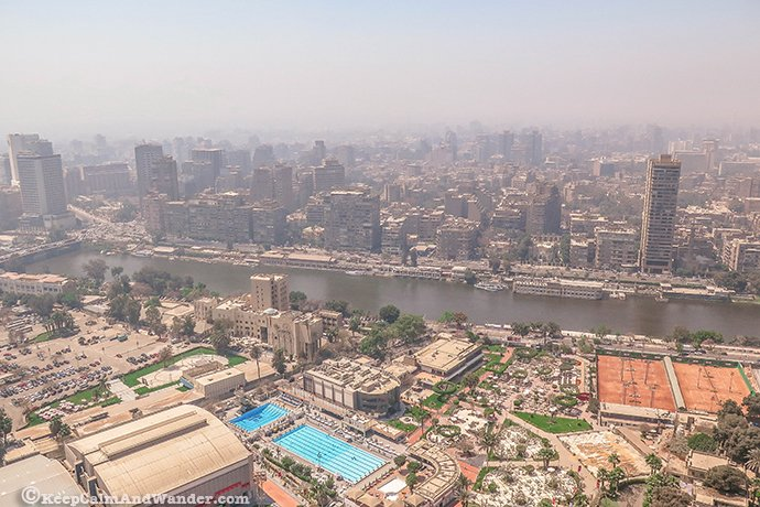 View from Cairo Tower on a Polluted Day (Egypt).