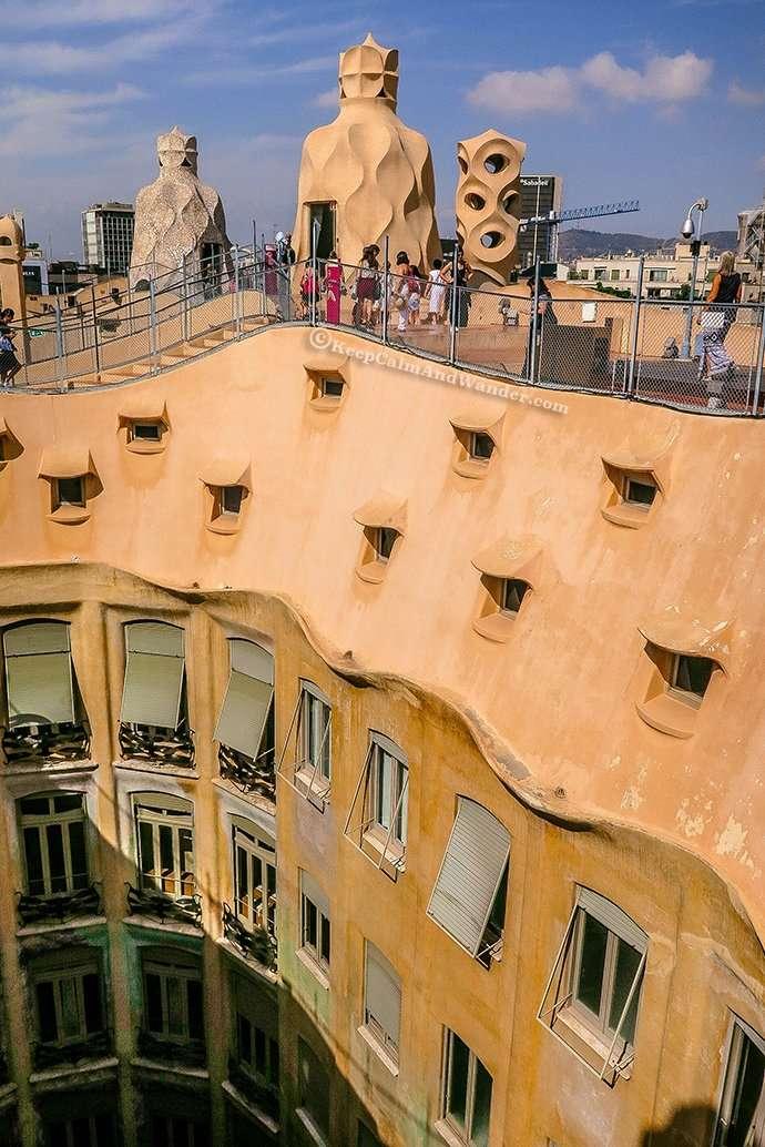 Casa Pedrera - The House That Looks Like a Quarry (Barcelona, Spain)