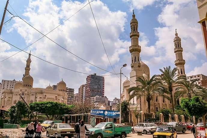 The Grand Al Mursi Mosque in Alexandria, Egypt.