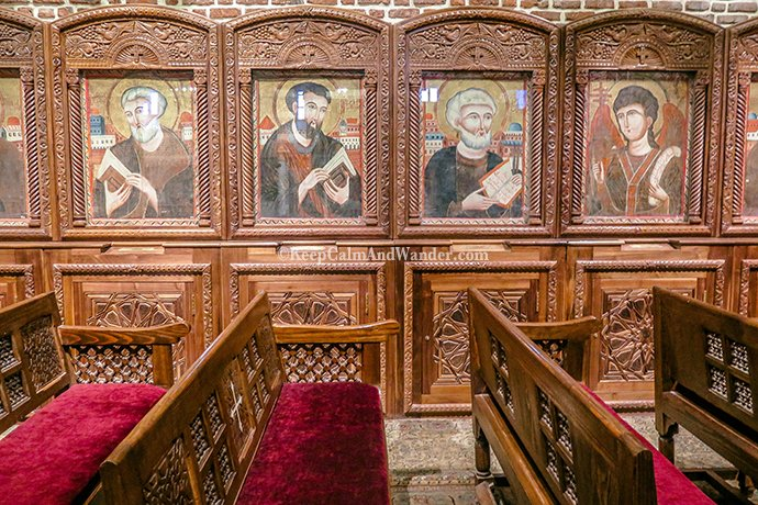 Coptic Cairo - Church of Saints Sergius and Bacchus (Egypt).