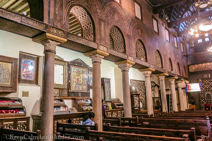 The Hanging Church is known as Saint Mary's Coptic Orthodox Church (Cairo, Egypt).