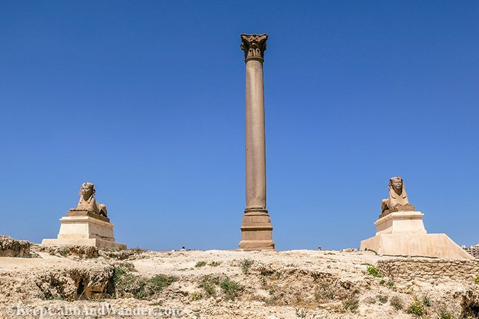 Pompey's Pillar - An Open Museum in Alexandria (Egypt).