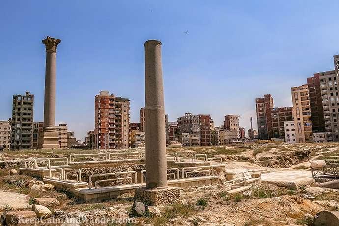 Pompey's Pillar - An Open Museum in Alexandria (Egypt).