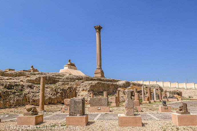Pompeys Pillar - An Open Museum in Alexandria (Egypt).