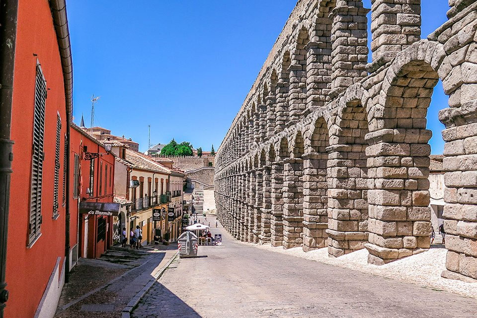 Segovia Aqueduct - Ancient Rome's Legacy in Spain.