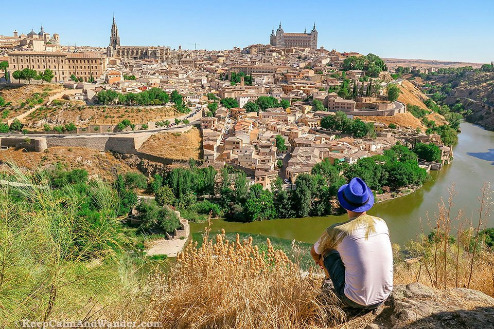 The Panoramic View of Toledo from Mirador del Valle (Spain).