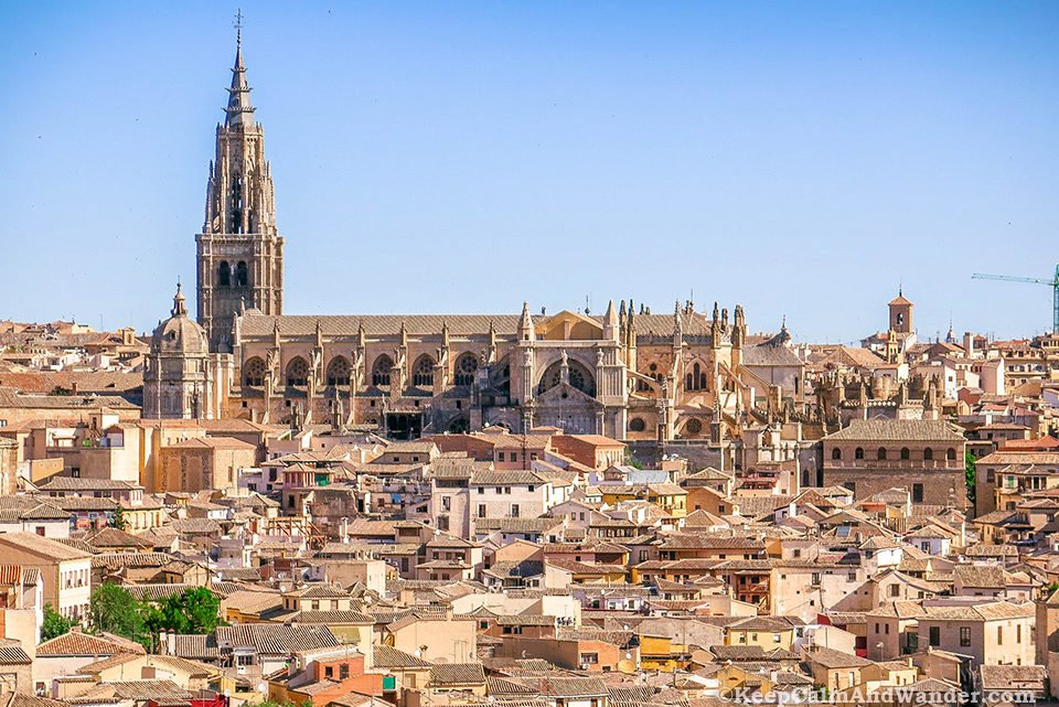 The Panoramic Views of Toledo from Mirador del Valle (Spain).