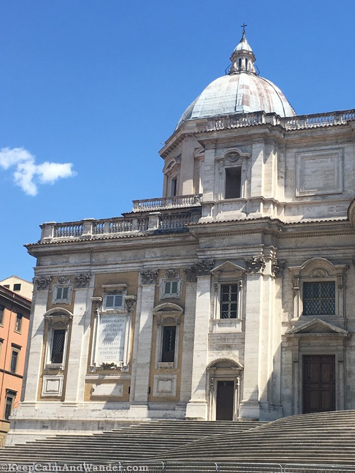 Snow Fell in This Church in the Middle of Summer in Rome (Basilica di Santa Maria Maggiore / Rome, Italy).