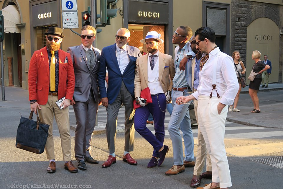 The Dashing Men of Florence (italy).