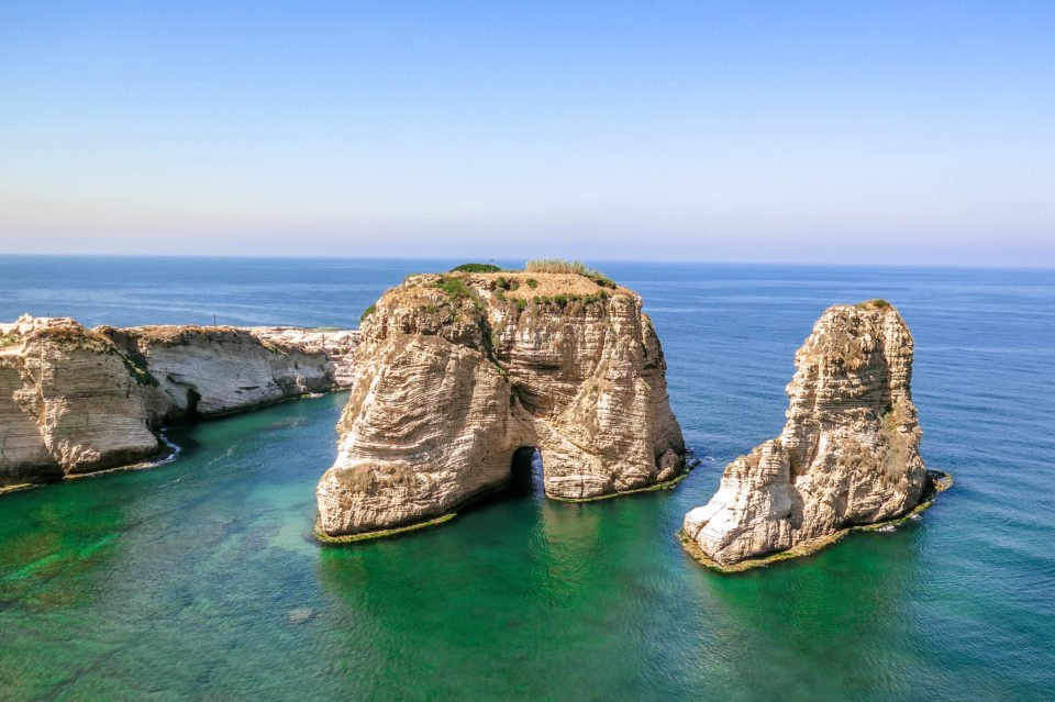 Beirut Pigeon Rocks (Lebanon).