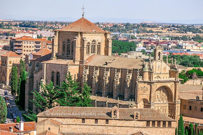 View from the Towers of La Clerecia in Salamanca (Spain).