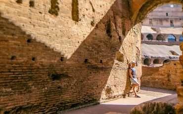 Inside Roman Colosseum Rome Italy 3