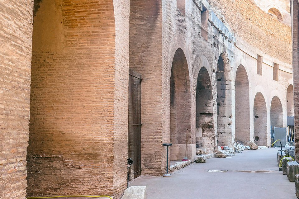 Take a Peek: Inside the Colosseum in Rome (Italy).