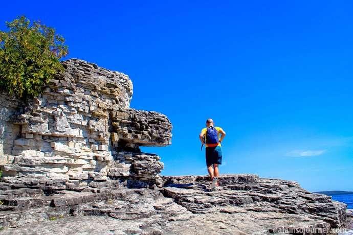 Hiking at Flowerpots Bruce Peninsula