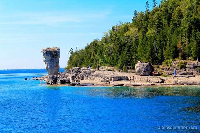 Flowerpots Island in Bruce Peninsula