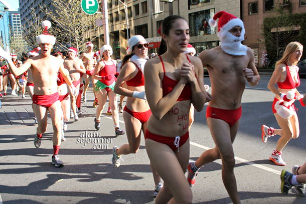 Toronto 2011 Naked Santa Speedo Run