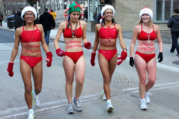 Toronto's version of Naked Santa Speedo Run.