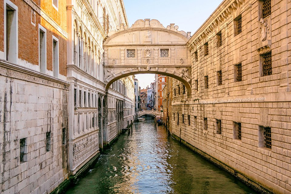 Bridge of Sigh is the Only Bridge in the World That Connects a Palace and a Prison (Venice, Italy).