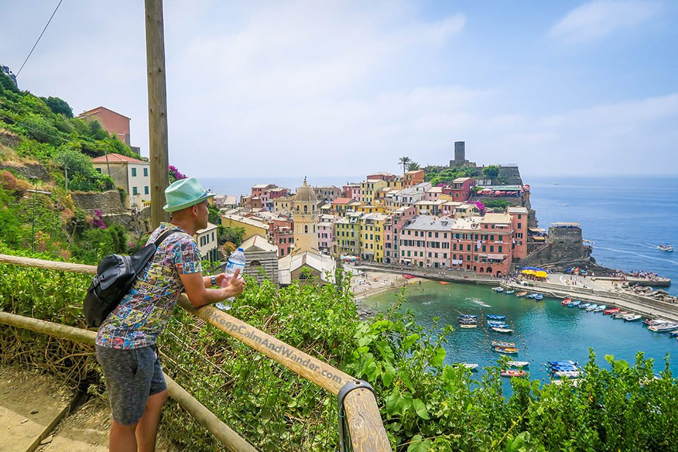 Vernazza - The Steepest of the Five Villages in Cinque Terre (Italy).
