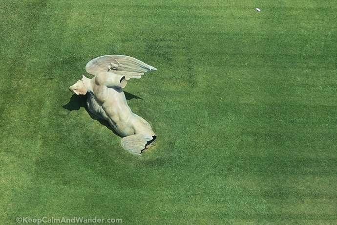 The Fallen Angel Statue in Pisa (by Igor Mitoraj).