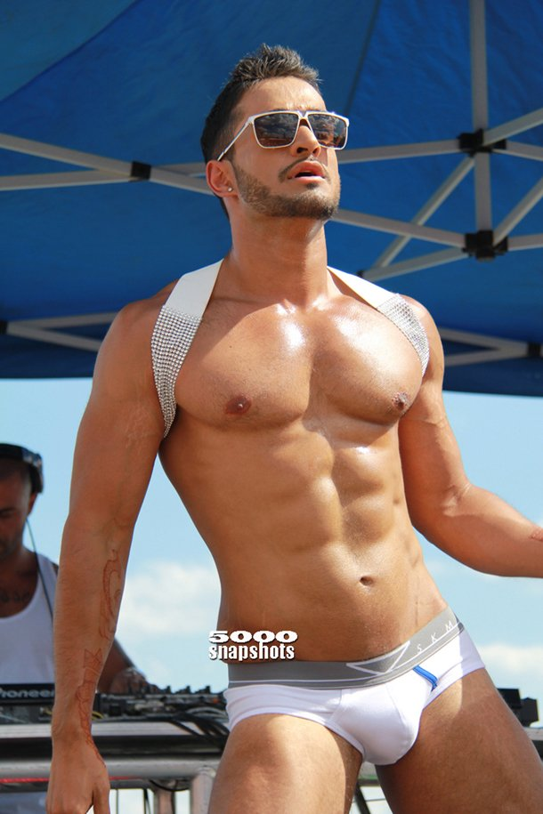 Toronto-Pride-2012-Aqua-Party-Dancer Where and when: Starts at Bloor and Church Street / 1:00 PM / June 29 / Sunday / FREE
