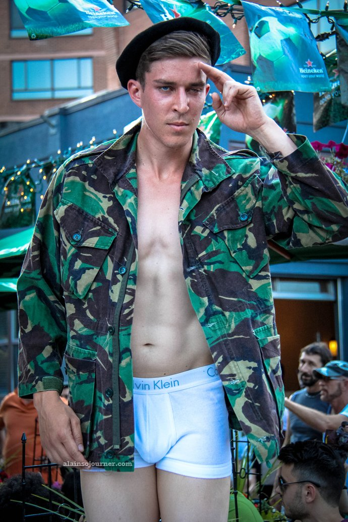 Underwear Show at California Cafe for World Pride Toronto 2014