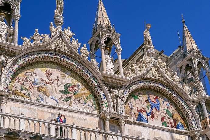 The Mosaics of San Marco Basilica (Venice, Italy).