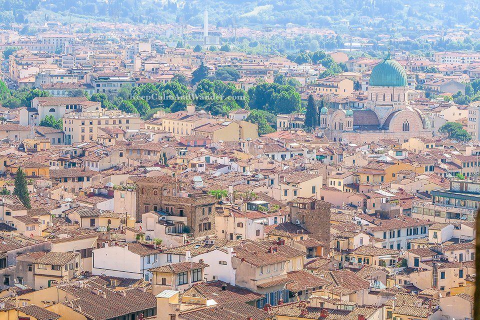 City Skyline: The Spectacular View of Florence From Torre de Arnolfo (Italy).