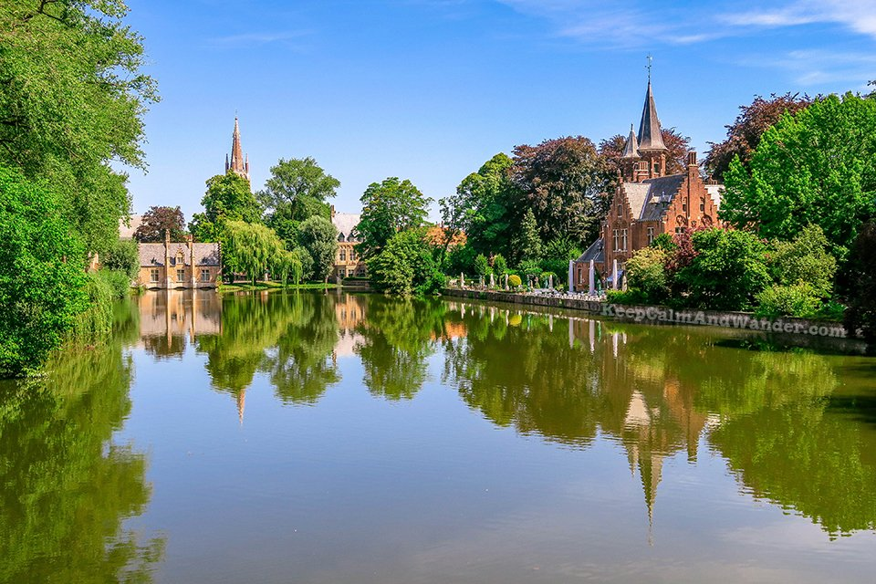 Minnewater lake / I Spent a Day in Bruges and I did My Own Walking Tour (Belgium).