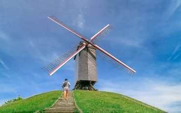 13 Bruge Voomalige Hanzekwartier Windmills Belgium