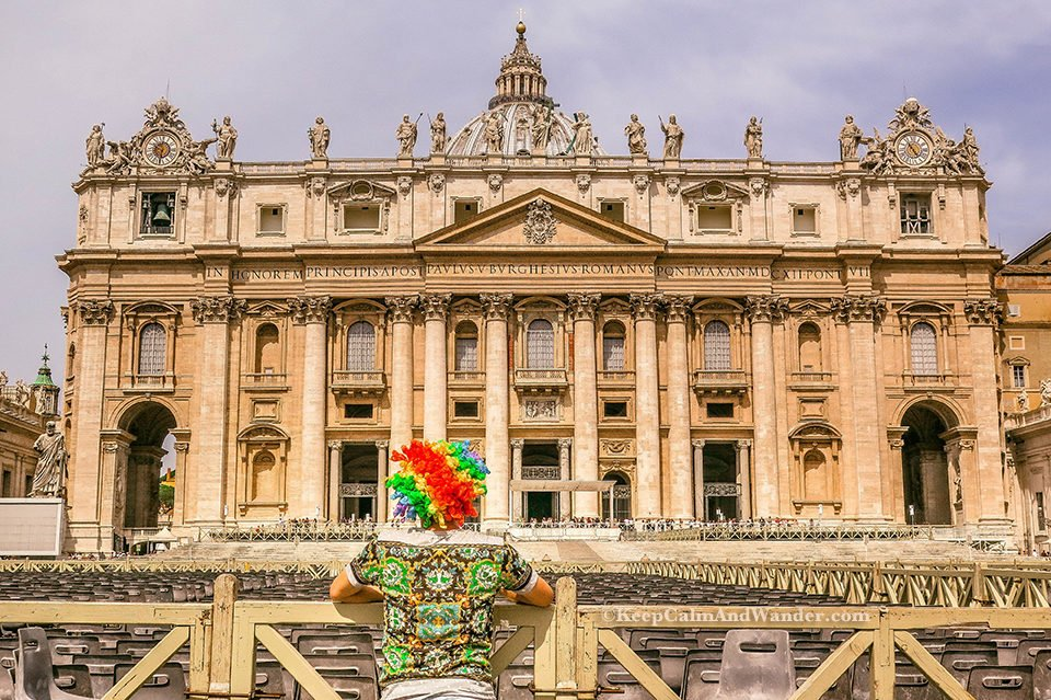 St Peter Square and St Peter Basilica - The World's Largest Church (Italy).