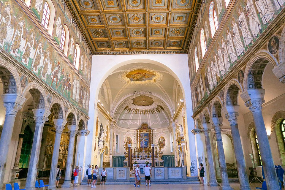 Basilica di Sant Apollinare Nuovo / A Day Trip to the City of Ravenna Where Dante is Laid to Rest (Italy).