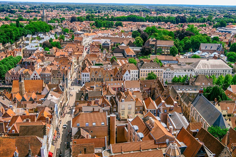 Bruges Skyline from the Belfry (Belgium).
