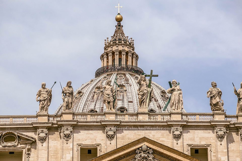 Climbing the Dome of St Peter Basilica (Italy).
